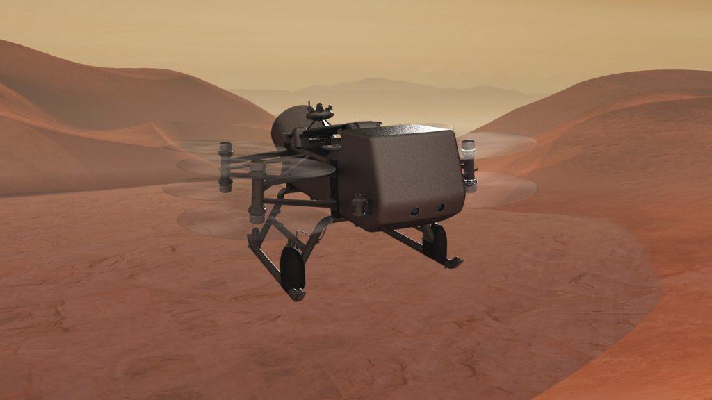 El dron volador de la NASA Dragonfly será un laboratorio volador diseñado para tomar muestras y estudiar la química de Titán