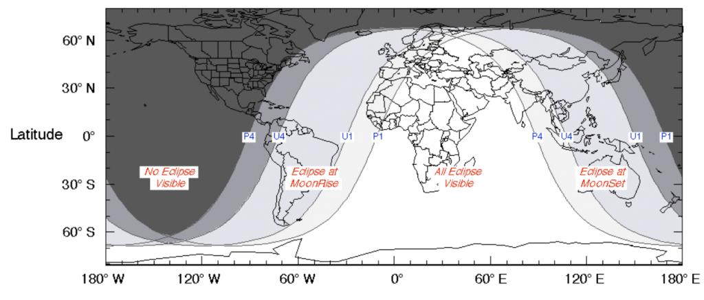 Este martes Europa podrá observar un eclipse lunar parcial.