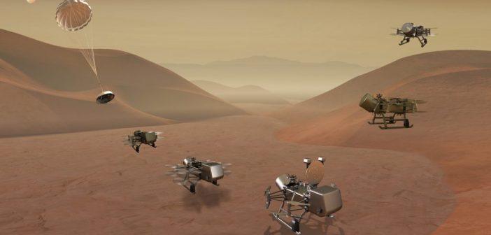 La NASA explorará Titán con un dron volador llamado Dragonfly