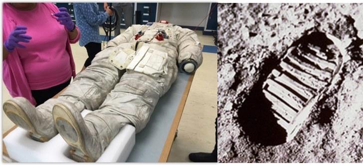 Traje espacial de Neil Armstrong usado para caminar sobre la Luna.