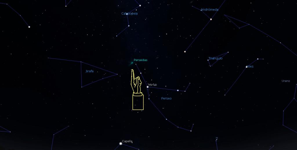 Las Perséidas provienen de la constelación de Perseo