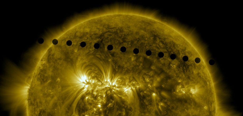 Tránsito de Venus del año 2012 captado por el Observatorio de Dinámica Solar de la NASA.