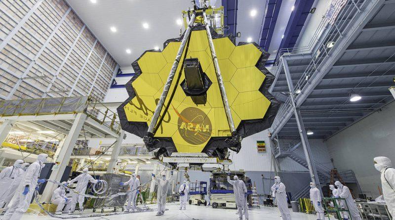 Espejo primario del Telescopio Espacial James Webb