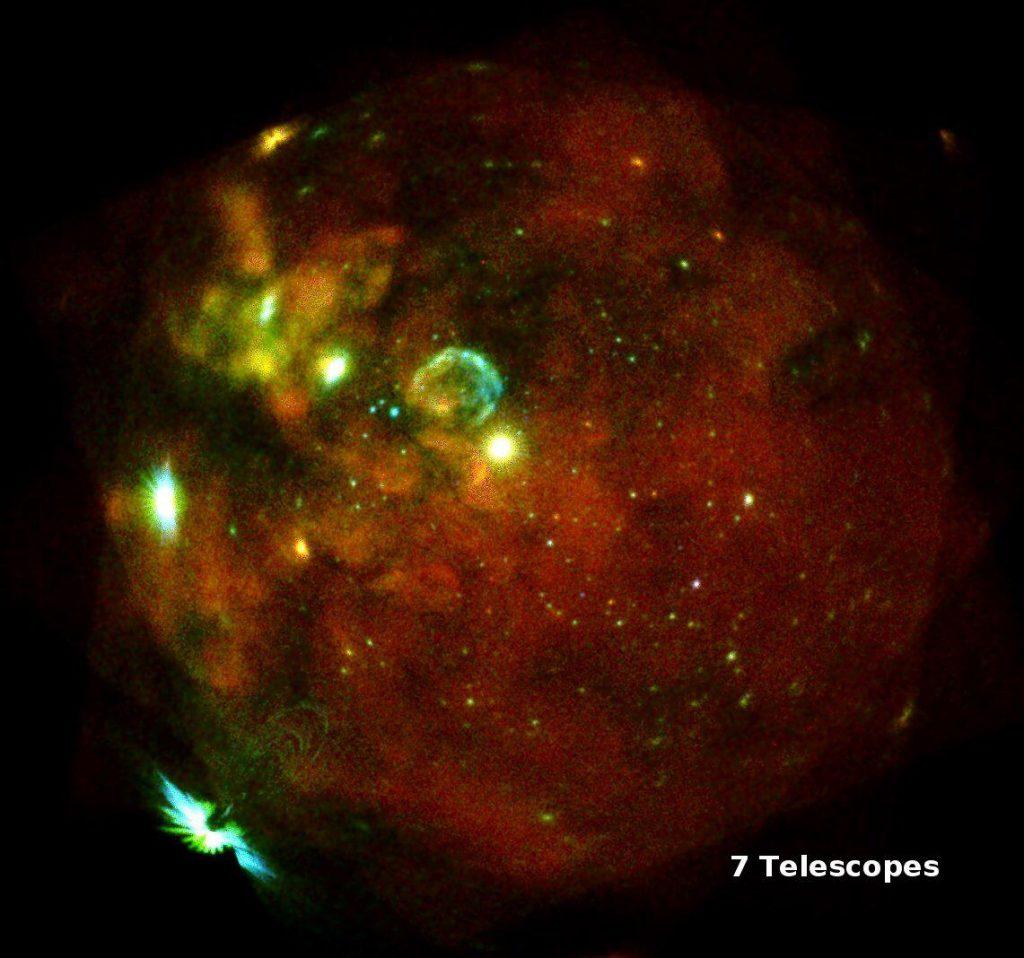 Imagen de la Gran Nube de Magallanes obtenida por eROSITA