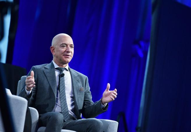 Jeff Bezos, en el Congreso Internacional de Astronáutica celebrado en Washington (EE.UU.)