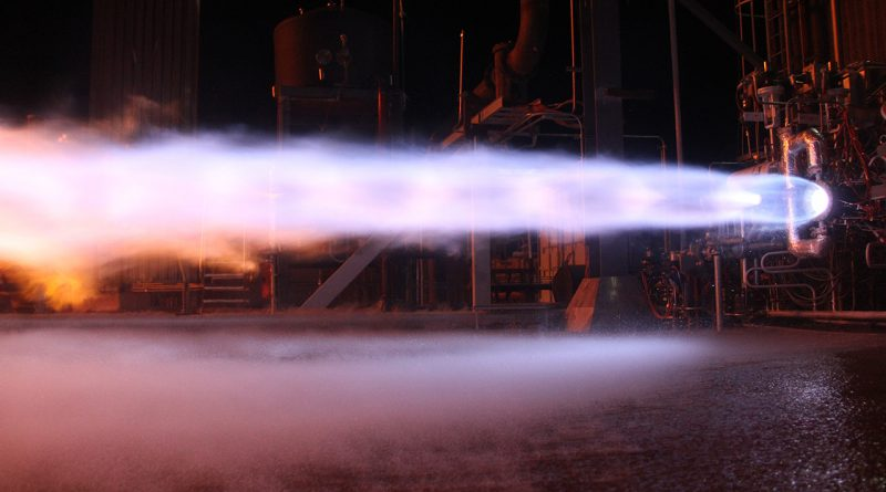prueba de motor de cohete