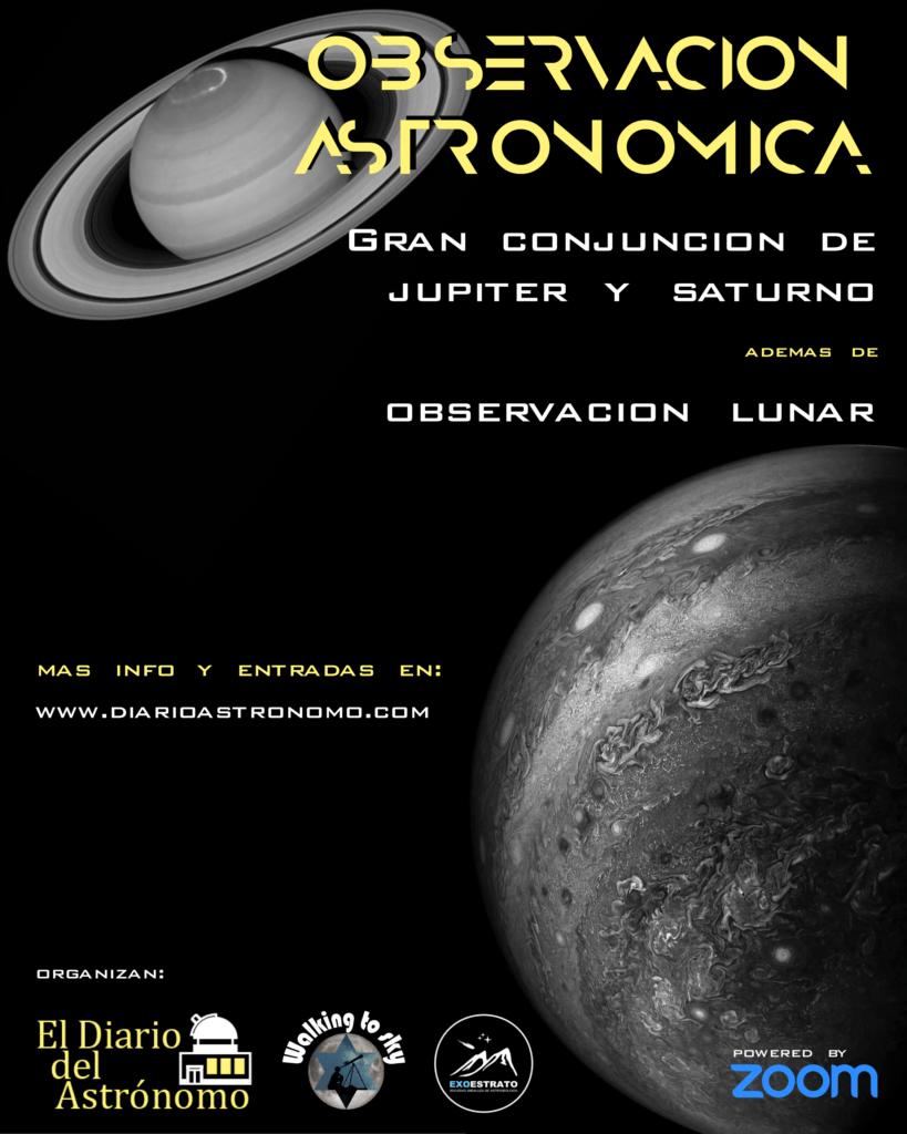 Conjunción Jupiter y Saturno