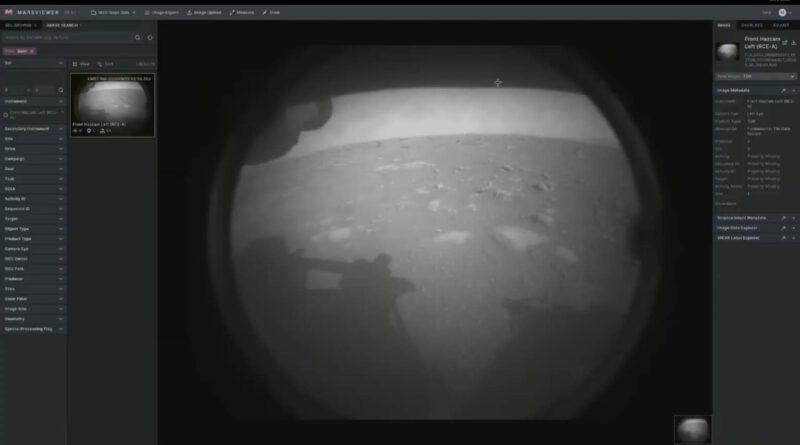 Primera imagen tomada por el rover de la NASA Perseverance