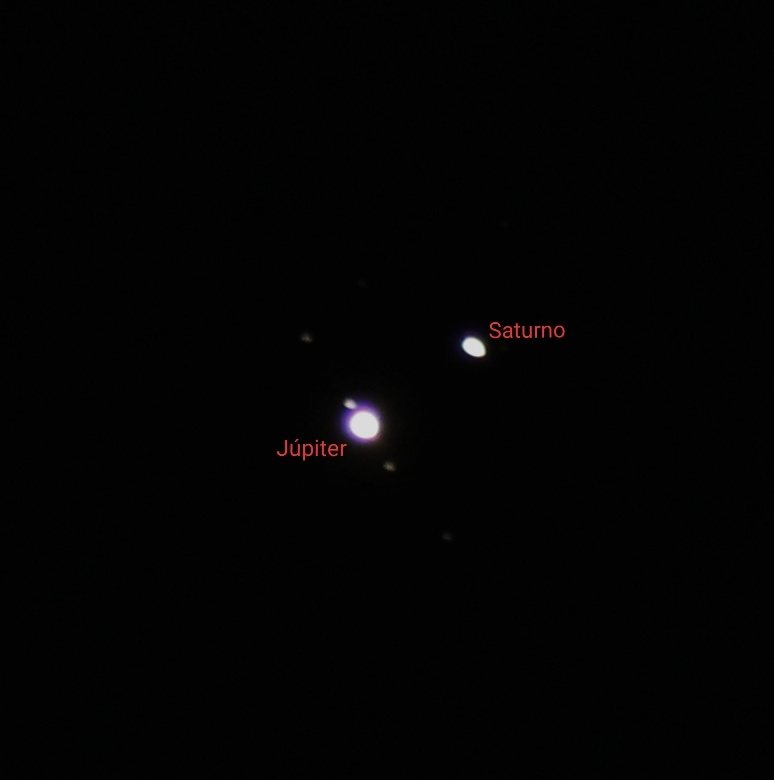 Fotografia de las lunas de jupiter.